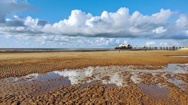 Seaside reflections at Blackpool