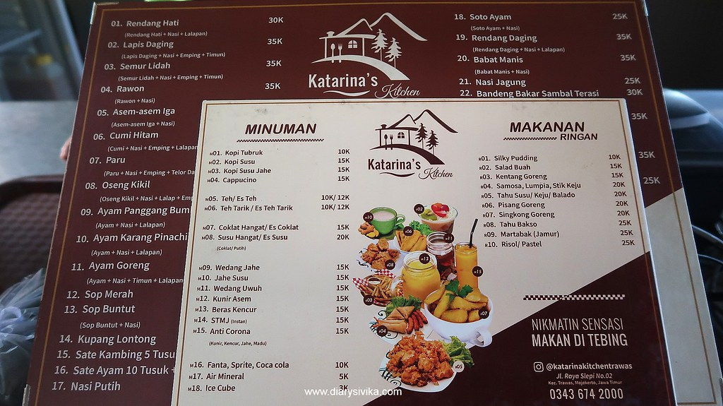 menu katarina kitchen