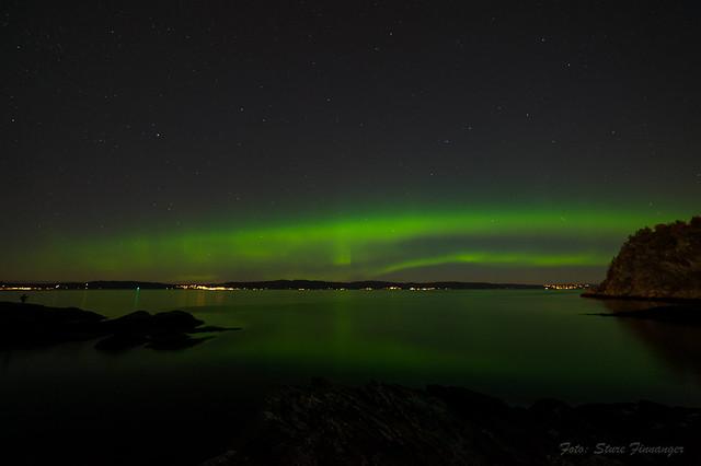 Aurora Borealis in Trondheim, Norway