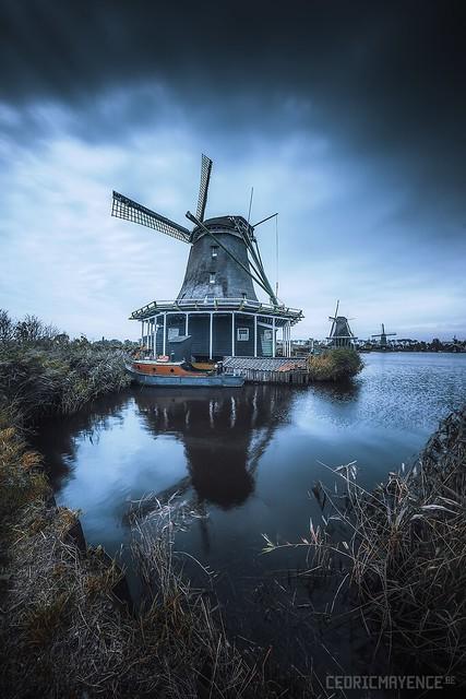 Zaanse Schans Windmill - Holland