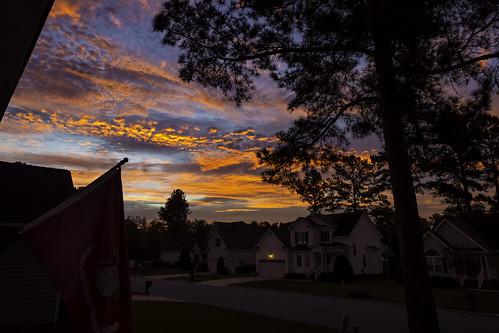 sunrise landscape morning dawn canon 2020 wintervillenc northcarolina fall autumn sky clouds