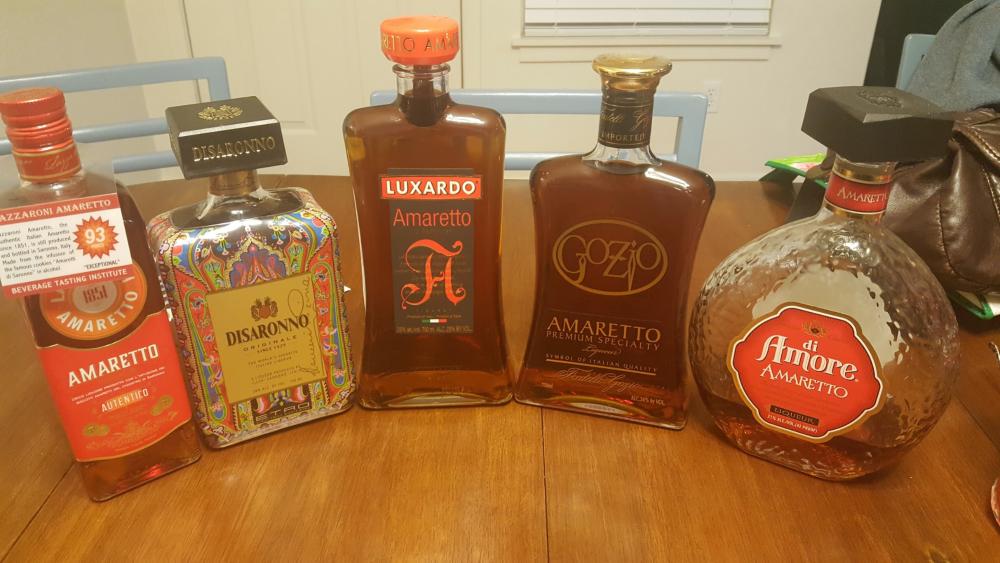 Several Brands of Amaretto
