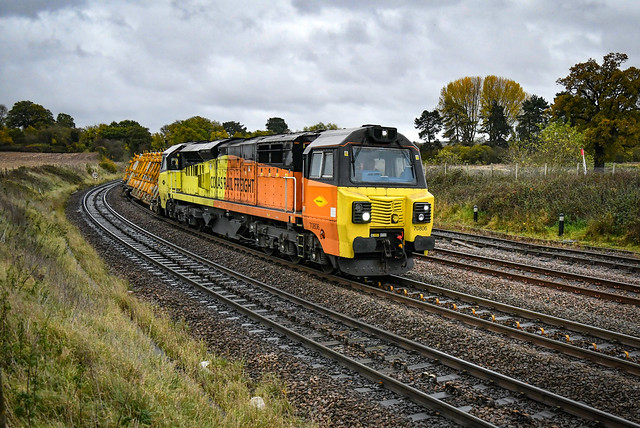 70806 approaching Whitacre Junction