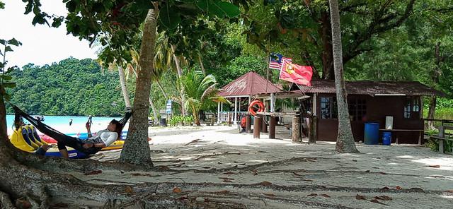 Lazing on Beras Basah Island