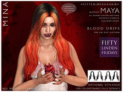 MINA Hair - Maya Bloody for Fifty Linden Friday!