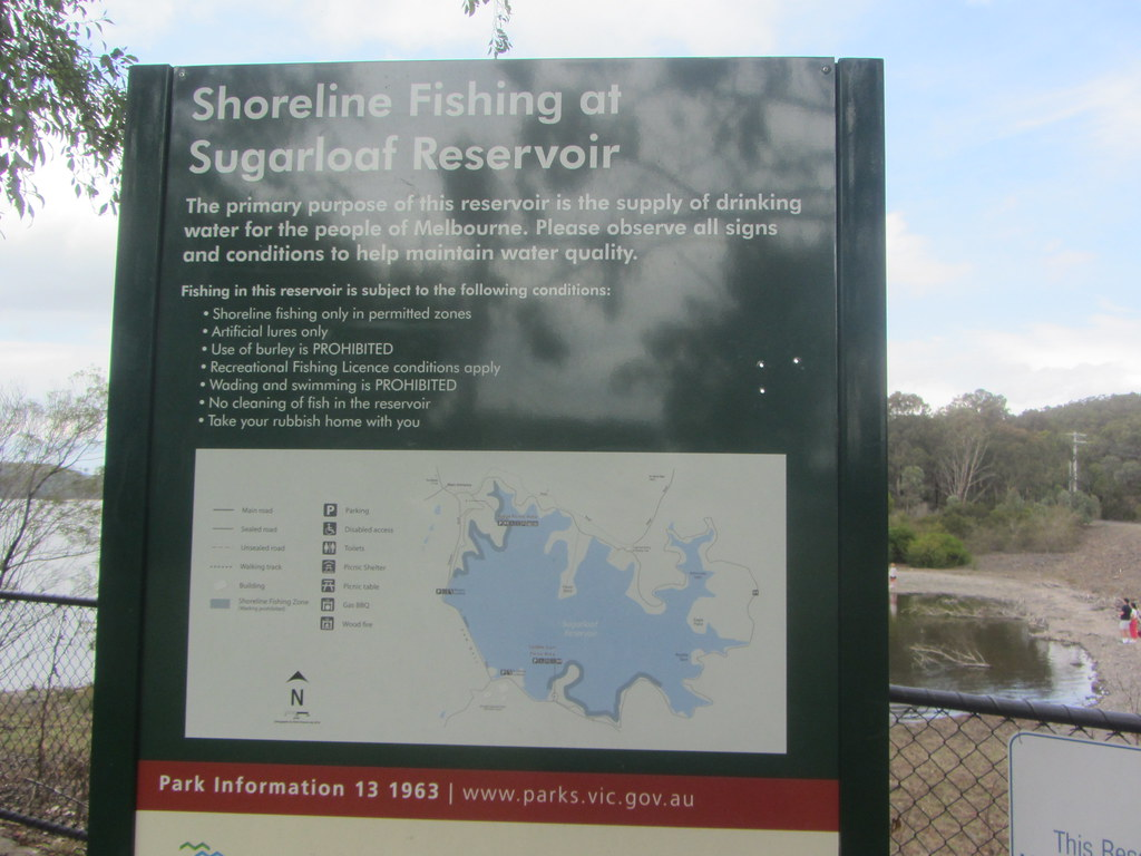 Fishing information and map,  Sugarloaf Reservoir, Nillumbik Shire, Victoria