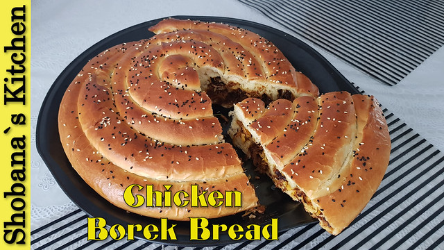 Rolled Chicken Borek Bread Recipe (With & Without Oven) By Shobana`s Kitchen