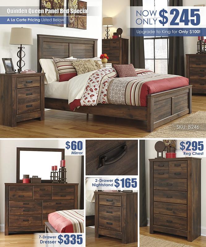 Quinden Queen Panel Bedroom A La Carte_B246
