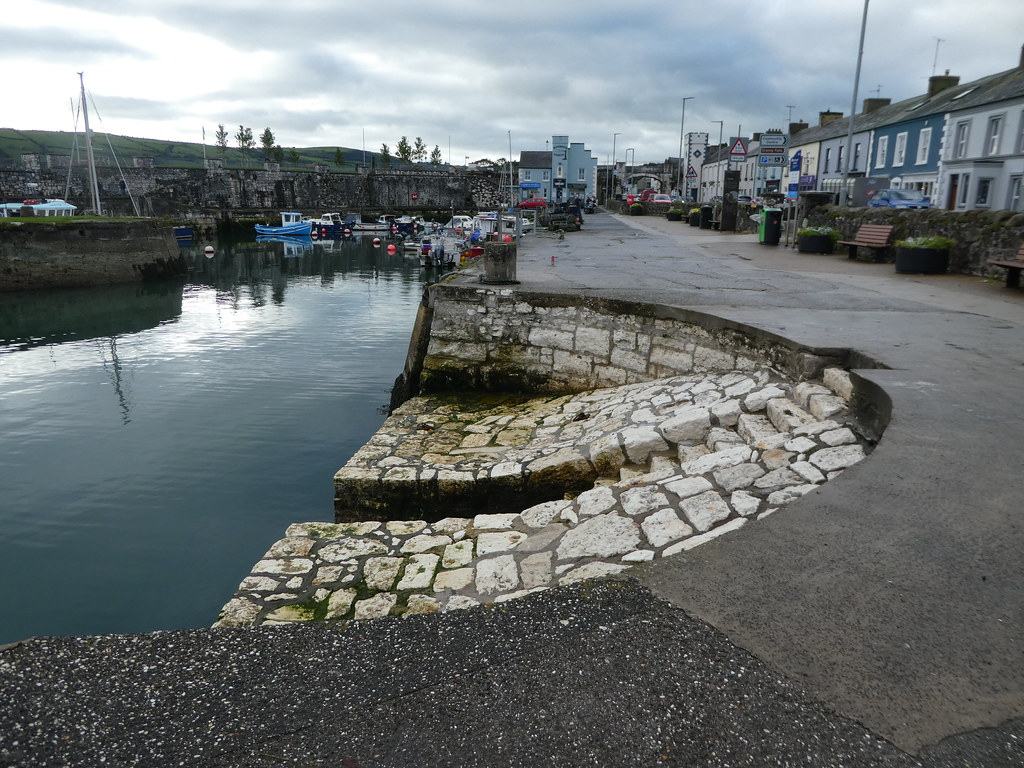 Harbour steps at Carnlough featured in Game of Thrones
