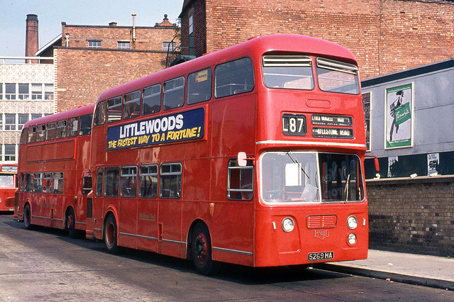 Midland Red ( BMMO ) . 5269 5269HA . Leicester . Saturday 18th-September-1971