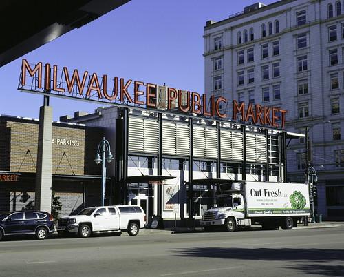 Milwaukee Public Market from Under Bridge