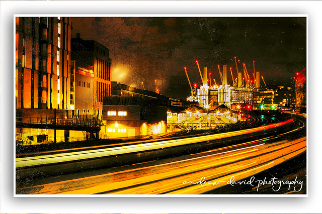Light Trails And Battersea Power Station