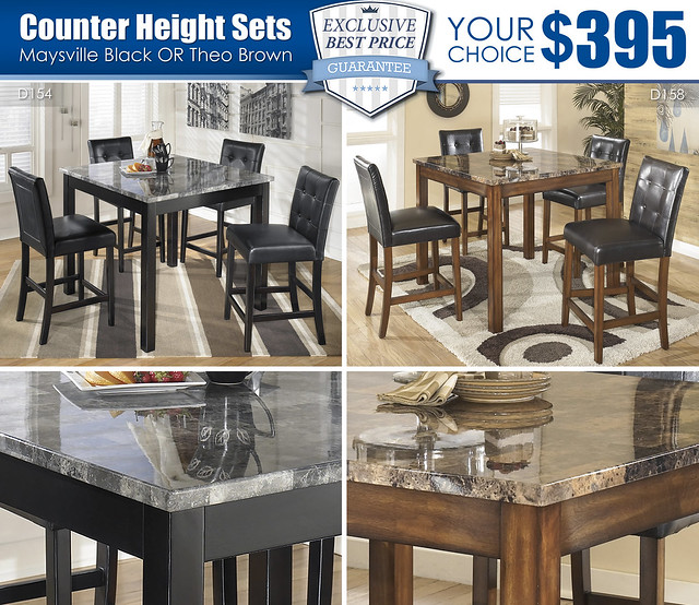 Theo Maysville Your Choice Counter Height Sets_D158_D154