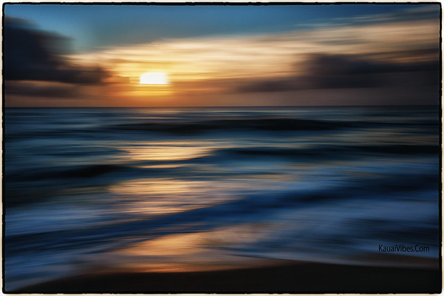 Sunrise at the Beach; Abstract.
