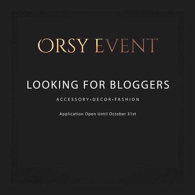 ORSY EVENT is looking for BLOGGERS!