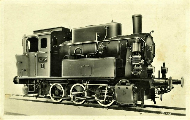 Iran Railways - Iranian State Railways 0-6-0T steam locomotive Nr. 1 (Krupp Locomotive Works, Essen 1070 / 1929)