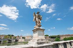 Ange au fouet, Lazzaro Morelli, Pont Saint-Ange, Rome, 2020