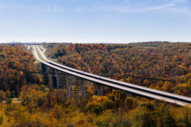 Autumn Road and Rail