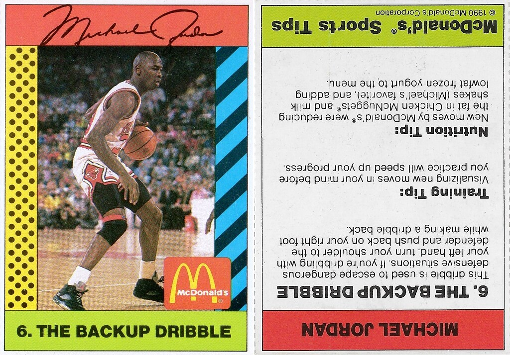 1990 McDonalds Michael Jordan #6