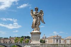 Ange à la couronne d'épines, Paolo Naldini, Pont Saint-Ange, Rome, 2020