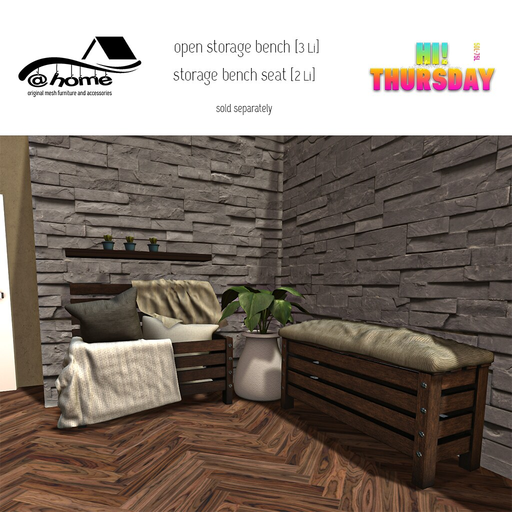 @home – Hi Thursday Ad – Storage Bench (open)  –  Storage Bench Seat