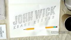 JOHN WICK KEANU REEVES dixon pencil