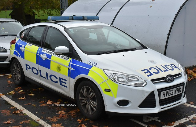 Hampshire Police Ford Focus HV63 WHK 5332