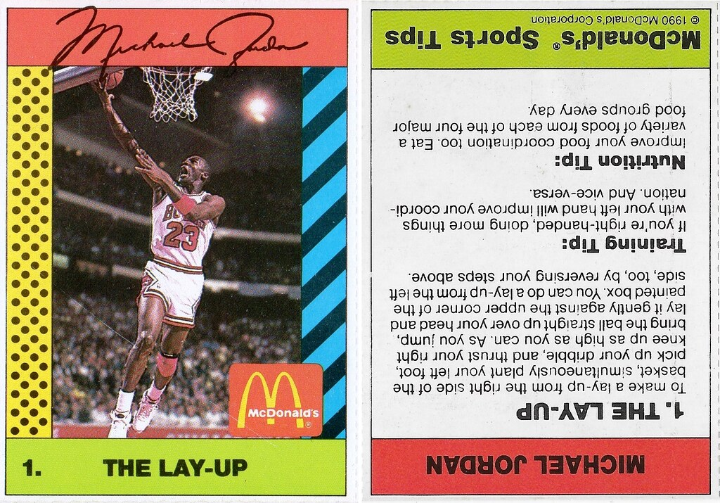 1990 McDonalds Michael Jordan #1
