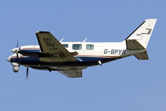 G-BPYR  -  Piper Pa31-310 Navajo c/n 31-7812032  -  BOH/EGHH 15/9/20