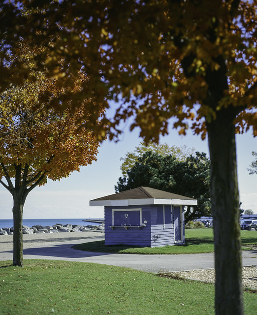 Blue shack at McKinley Beach