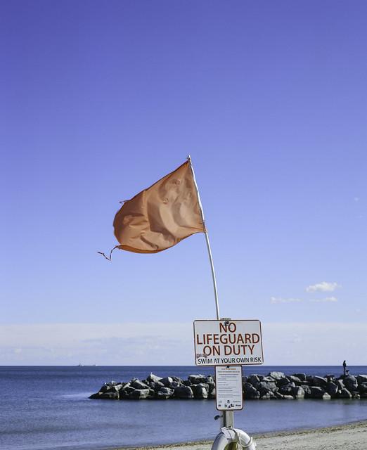 McKinley Beach Flag Flapping