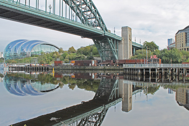 Tyne bridge and The sage, Gateshead