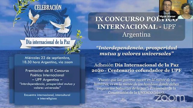 Argentina-2020-09-23-UPF-Argentina Honors UN International Day of Peace With Awards for Outstanding Poetry