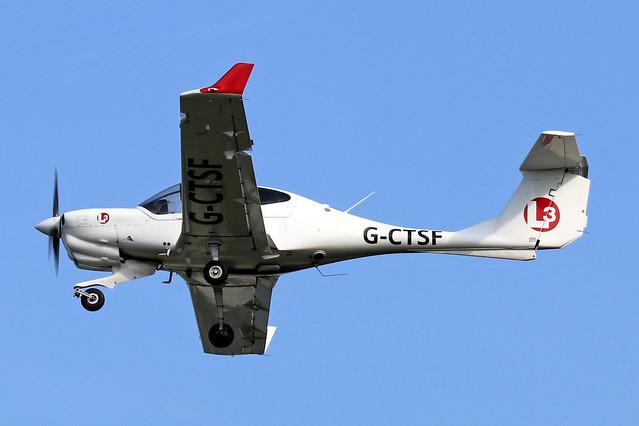 G-CTSF  -  Diamond Aircraft DA-40NG Diamond Star  -  c/n 40.N284  -  BOH/EGHH 15/9/20