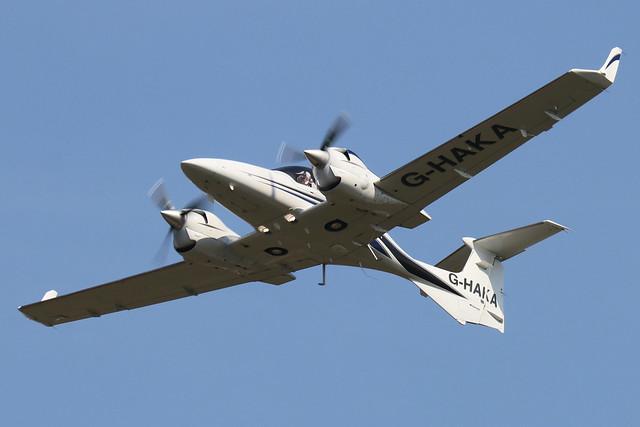 G-HAKA  -  Diamond Aircraft DA-42NG Twin Star  -  c/n 42.N158  -  BOH/EGHH 15/9/20