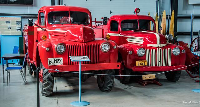 2020 - BC-AB Road Trip - 102 of 214 - Nanton, Alberta - Canada's Bomber Command Museum - Crash/fire Trucks