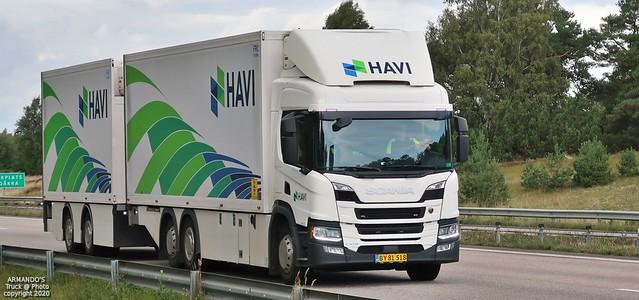 Scania P410 (DK518) Havilog Transport