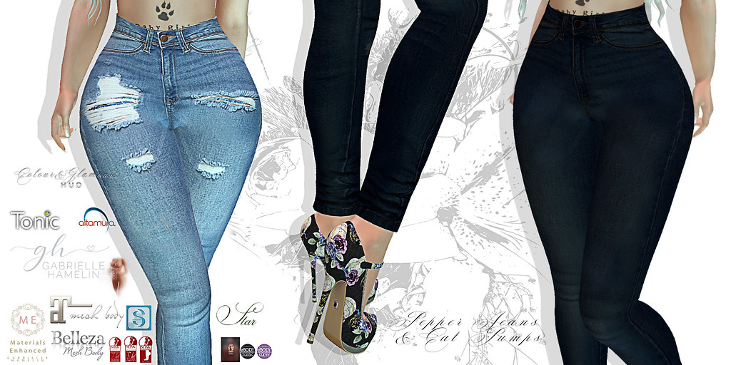 Pepper-Jeans-&-Cat-Pumps-Poster