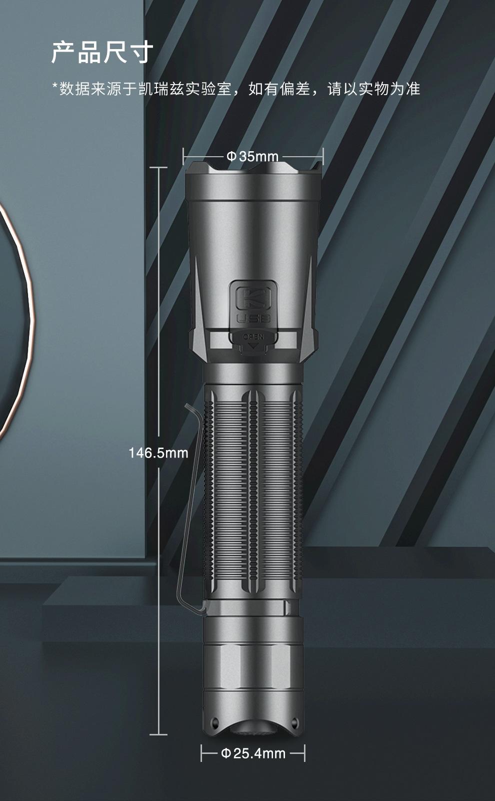 KLARUS XT21C 戰術手電筒 3200流明 -14