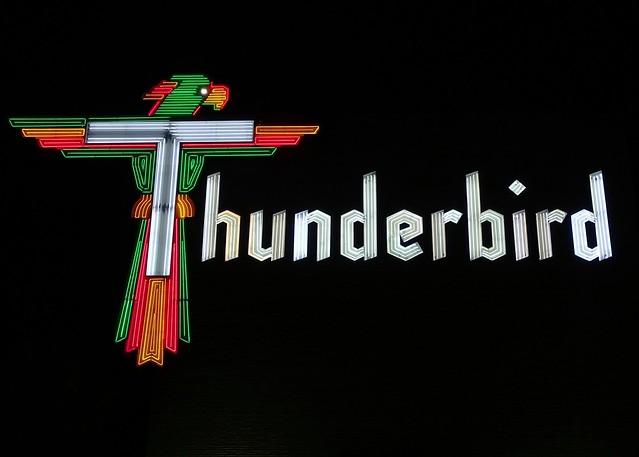 FL, Treasure Island-Thunderbird Resort Neon Sign