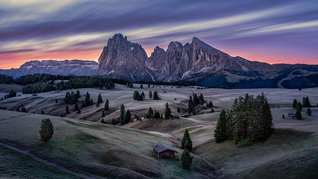 Dawn at Alpe di Siusi