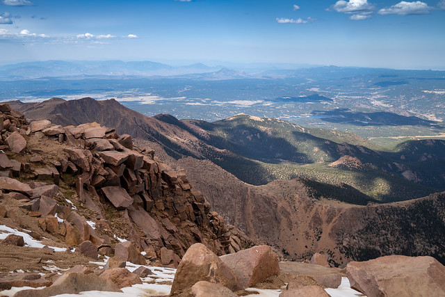 Summit of Pikes Peak (Americas Mountain) in Colorado, over 14,000 feet in elevation