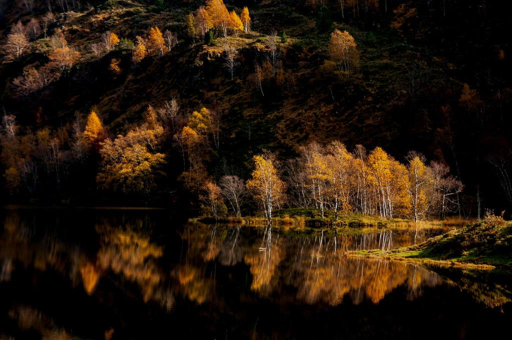 Automne à l'étang de Lers (Ariège)