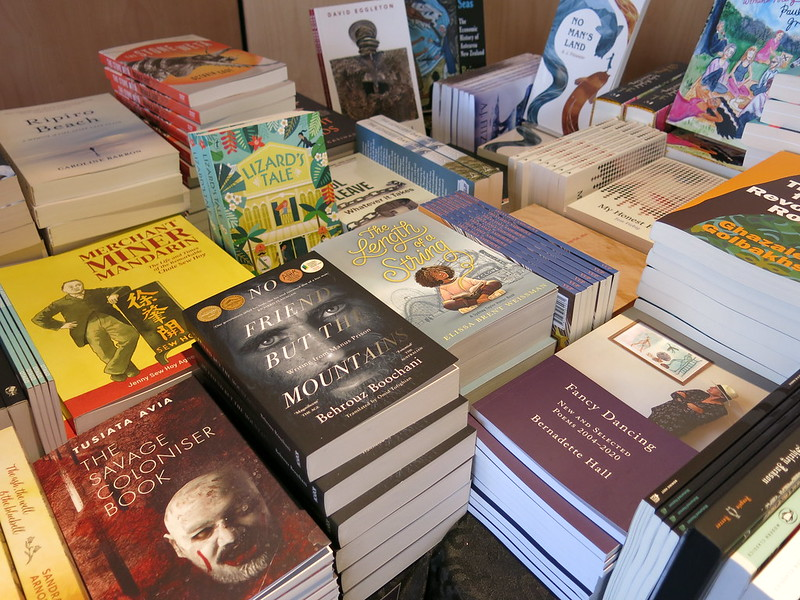 UBS University Bookshop stall at The Piano