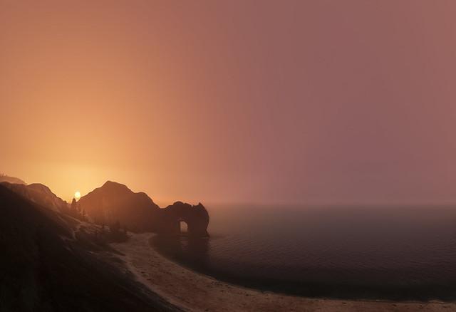 Durdle door sunrise...