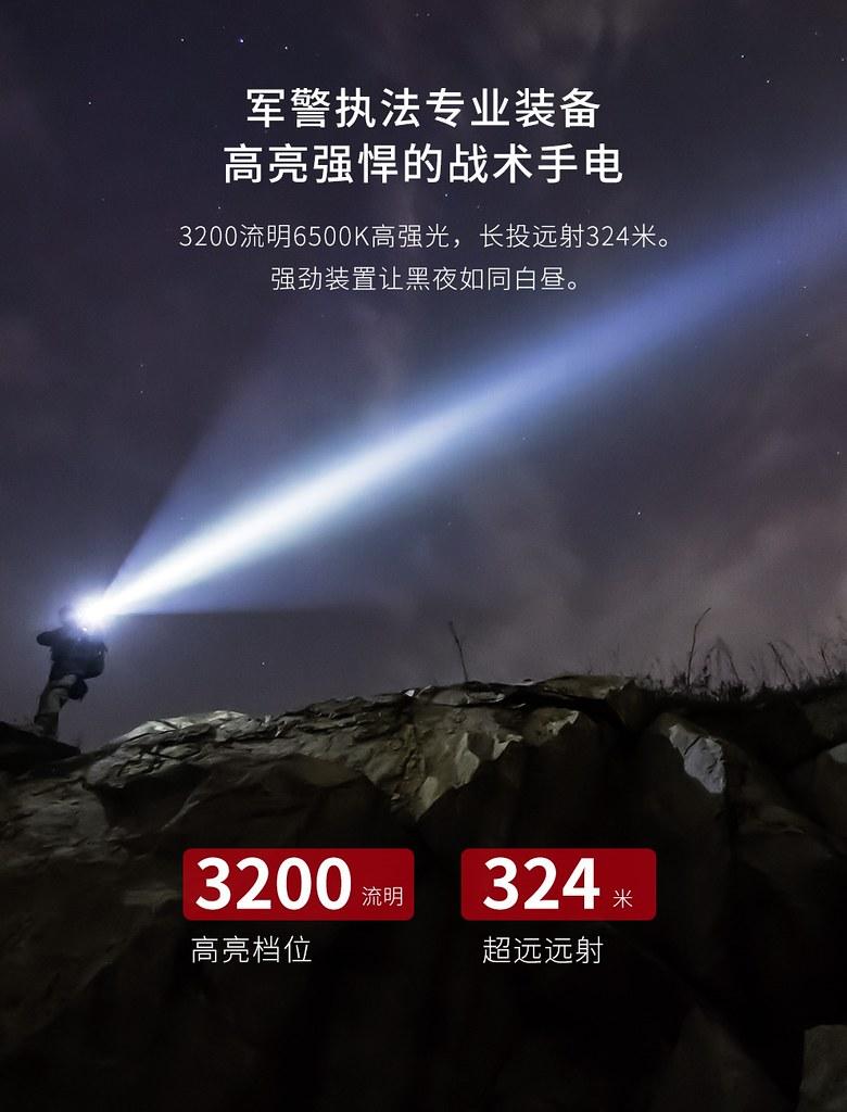 KLARUS XT21C 戰術手電筒 3200流明 -3