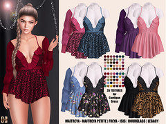Hilly Haalan - Alvona Nighty Dress and Cardigan Set