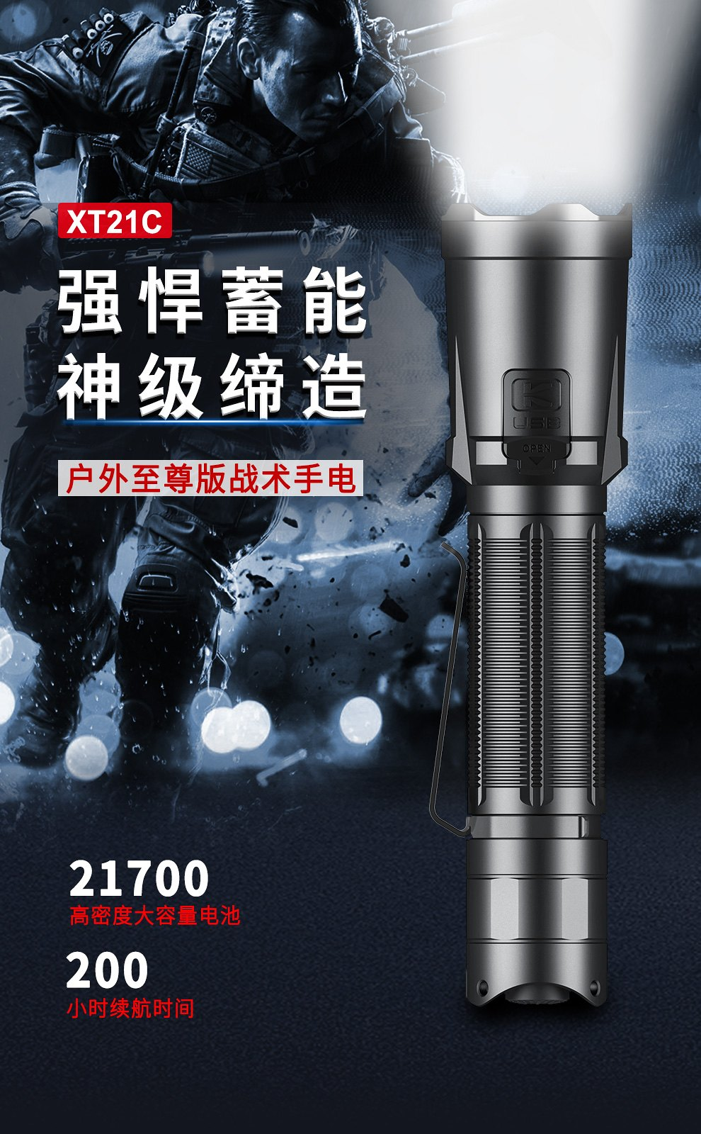 KLARUS XT21C 戰術手電筒 3200流明 -1