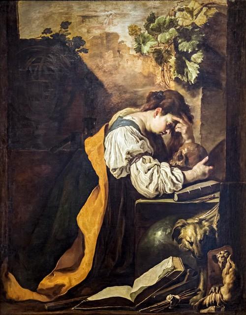 Accademia - La Meditazione by Domenico Fetti 1618