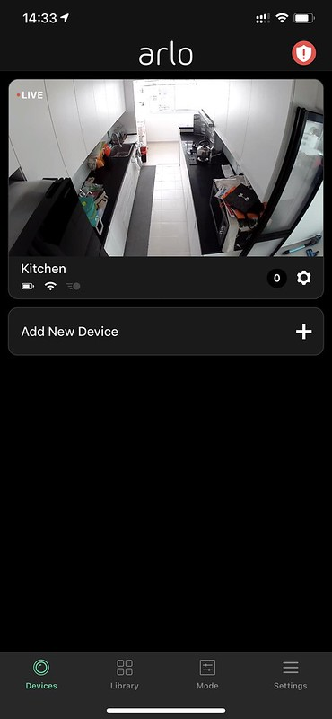 Arlo iOS App - Kitchen View